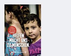 """Buchcover zu """"Helfen macht uns zu Menschen"""""""