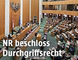 Plenarsaal im Wiener Parlament