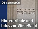 Eingang zum Sitzungssaal Wiener Gemeinderat