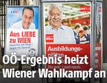 Wahlplakate der SPÖ und FPÖ