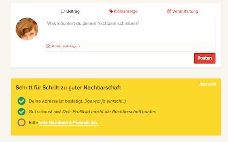 Screenshot von Fragnebenan.com
