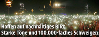 Lichtermeer auf dem Wiener Heldenplatz