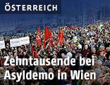 """Demonstration """"Flüchtlinge willkommen!"""" in Wien"""
