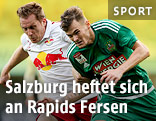 Christian Schwegler (Salzburg) und Stefan Stangl (Rapid)