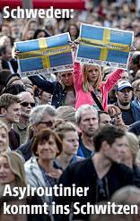 Demonstranten in Schweden