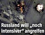 Videograb eines russischen Luftangriffs in Syrien