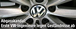 Volkswagen-Logo auf einer Felge