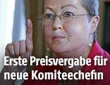 Die Vorsitzende des norwegischen Friedensnobelpreiskomitees, Kaci Kullmann Five