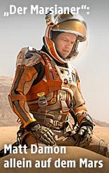 """Matt Damon in einer Filmszene aus """"Der Marsianer"""""""