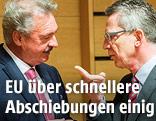 Luxenburgs Außenminister Jean Asselborn, und der deutsche Innenminister Thomas de Maiziere