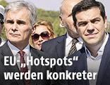 Werner Faymann und Alexis Tsipras