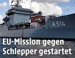 Schiff der deutschen Marine im Mittelmeer