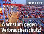 Container in einem Hafen