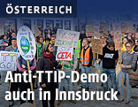 Demonstranten in Innsbruck