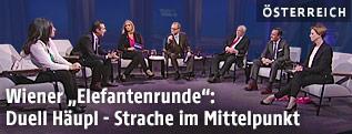 Die Spitzenkandidaten zur Wien-Wahl bei der Elefantenrunde