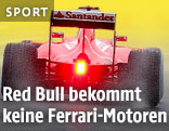 Rückansicht eines Formel-1-Wagens von Ferrari