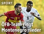 Spielszene Montenegro gegen Österreich