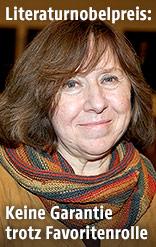 Weißrussische Schriftstellerin Swetlana Alexijewitsch
