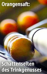 Orangensaftproduktion in einer brasilianischen Fabrik