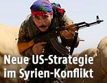 Kurdischer Kämpfer bei der syrischen Stadt Hasakeh