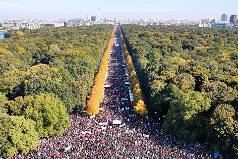 Massendemonstration in Berlin