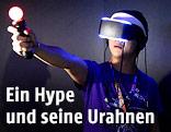 Gamer mit Virtual-Reality-Headset