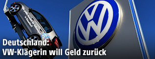 VW-Logo und Automodell