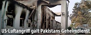 Ausgebranntes Krankenhaus in Kunduz (Afghanistan)