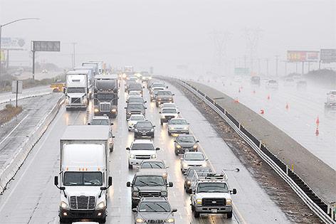 Starkregen in Kalifornien, USA