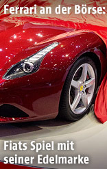 Ein Ferrari auf einer Autoshow