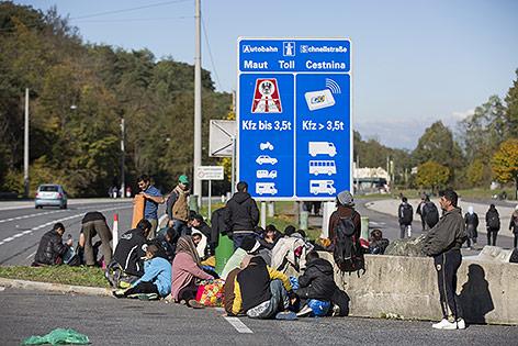 Flüchtlinge in Spielfeld
