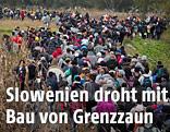 Flüchtlinge an der grünen Grenze zwischen Kroatien und Slowenien