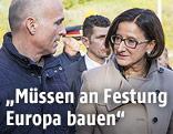 Verteidigungsminister Gerald Klug und Innenministerin Johanna Mikl-Leitner