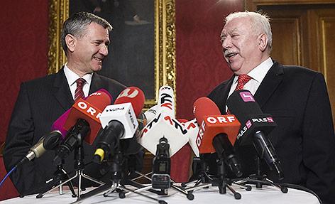 SPÖ-Landesparteisekretär Georg Niedermühlbichler und Wiens Bürgermeister Michael Häupl (SPÖ)