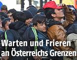 Flüchtlinge an der Grenze bei Passau