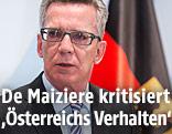 Deutschlands Innenminister Thomas de Maiziere