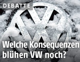 VW-Logo im Schnee