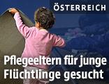 Flüchtlingskind in einem Lager