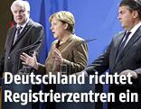 Angela Merkel, Sigmar Gabriel und Horst Seehofer