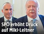Wiener Bürgermeister Häupl und Verteidigungsminister Klug