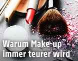 Verschiedene Make-up-Produkte