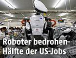 Roboterarme in einer Fabrik