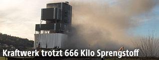 Hauptteil des Kraftwerks Voitsberg steht auch nach Sprengung noch