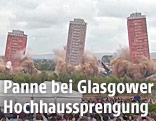 Häusersprengung in Glasgow