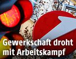 Ampel und Bank-Austria-Logo