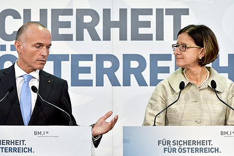 Verteidigungsminister Gerald Klug und Innenministerin Johann Mikl-Leitner