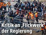 Flüchtlinge am Grenzübergang in Spielfeld