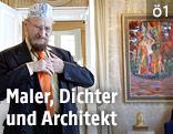 Archivbild aus dem Jahr 2005:  Der Maler Ernst Fuchs in seiner Villa in Wien