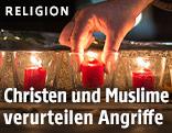 Hand und Kerzen