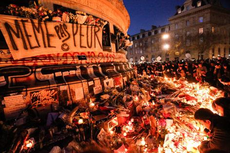 Gedenkfeieren in Paris